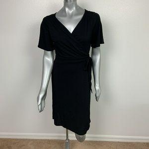 Loft Dress Career Casual Wrap Black Sz: 10P